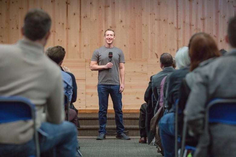 Mark Zuckerberg stands always very straight then he looks taller while he is only five foot eight.